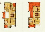 D 户型, 5室2厅3卫1厨, 建筑面积约391.64平米