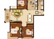 C4户型, 3室2厅1卫1厨, 建筑面积约120.00平米