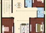 I户型, 3室2厅2卫1厨, 建筑面积约123.00平米