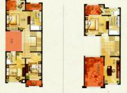 E户型, 5室2厅3卫1厨, 建筑面积约367.57平米