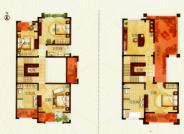 E 户型, 6室2厅4卫1厨, 建筑面积约421.67平米