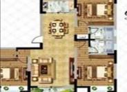 盛大花都D1户型, 3室2厅2卫, 建筑面积约140.00平米