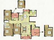 F户型, 5室2厅2卫1厨, 建筑面积约138.00平米