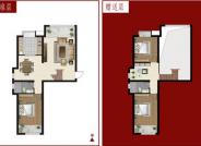 106㎡户型, 4室2厅1卫1厨, 建筑面积约106.00平米