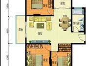 3室2厅1厨1卫户型, 3室2厅1卫, 建筑面积约92.20平米